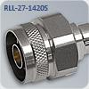 N-M117M СВЧ разъем N-type для радиочастотного кабеля RLL-27-1420S