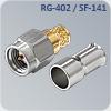 s-m016r цанговый sma разъем на кабель rg-402