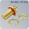 s-f035r цанговый приборный с гайкой sma разъем на кабель rg-402, sf-141