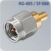 s-m015q цанговый sma разъем на кабель rg-405, sf-086