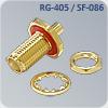 s-f035q цанговый приборный с гайкой sma разъем на кабель rg-405, sf-086