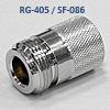 n-f115q свч разъем N серии для кабеля sf-086 и rg-405